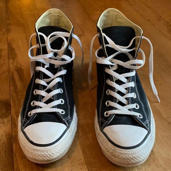 Men's black converse high top